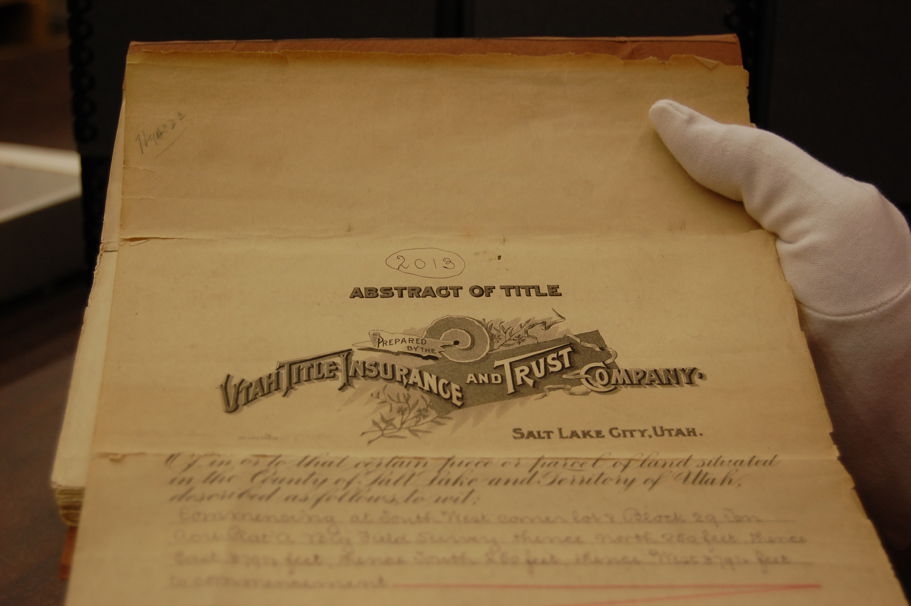 Archives Receives Donation | Salt Lake County Archives