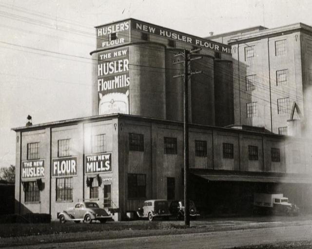 Husler Flour Mills, 300 West (400 West today) 500 South, circa 1937.