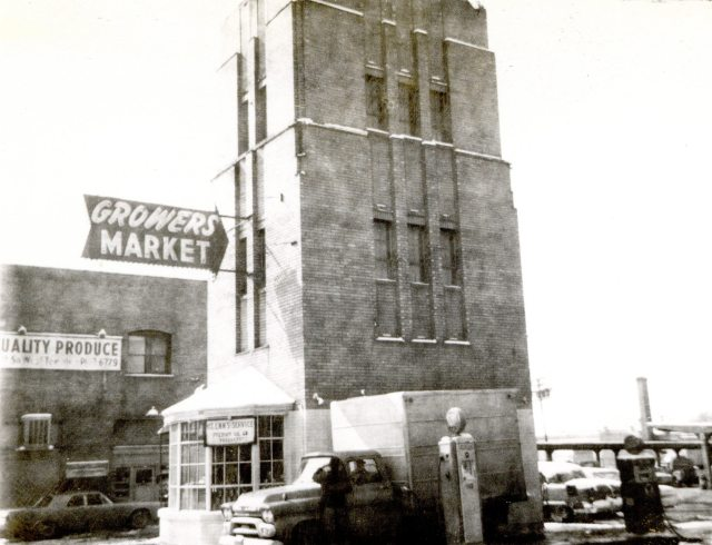 440 South West Temple. Service station and offices, built 1929. Photo circa 1960-1970.