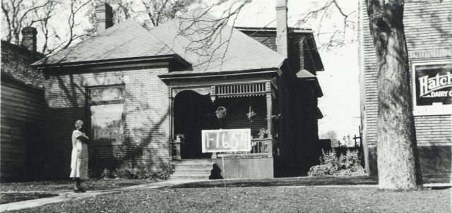 Residence built circa 1900.  Photo taken in 1936.