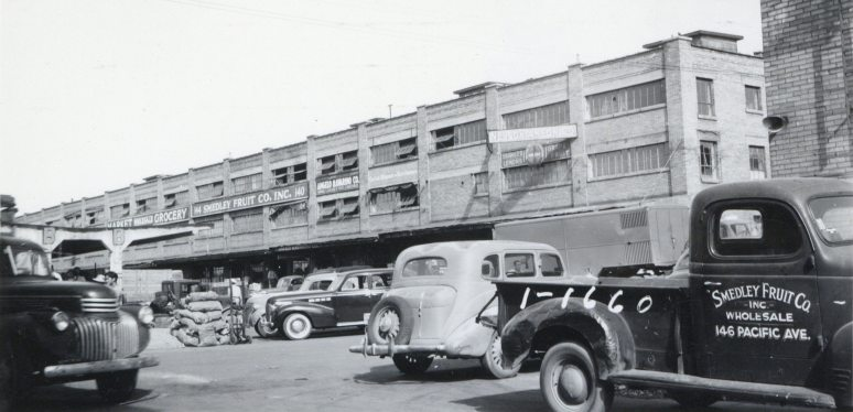 170 Pacific Avenue. Loading docks for various fruit companies, built 1940. Photo taken in 1941.
