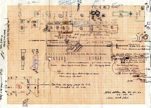 Utah-Idaho Sugar Company diagram of factory, circa 1948.