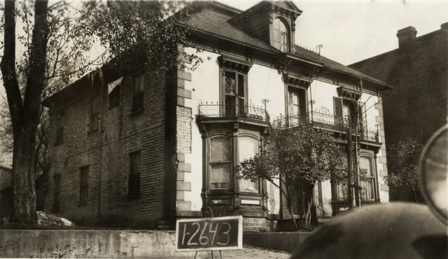 237 East 100 South.  Photograph taken in 1936. Salt Lake County Tax Appraisal Cards, serial 1-2643.