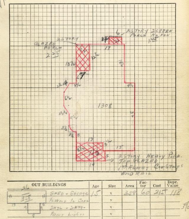 181 B Street plot plan, 1936.