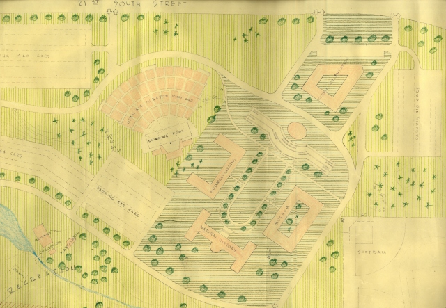 Preliminary Study for Land Use of Prison Site Property for the Development of a City park, 1956.