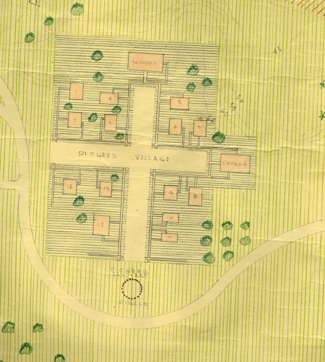 Preliminary study for land use of prisn site property for the development of a city park, 1956.