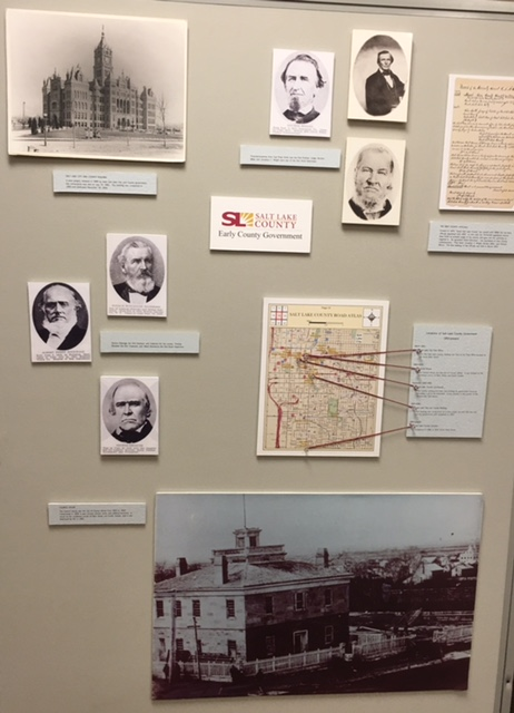 Early Salt Lake County government history exhibit.
