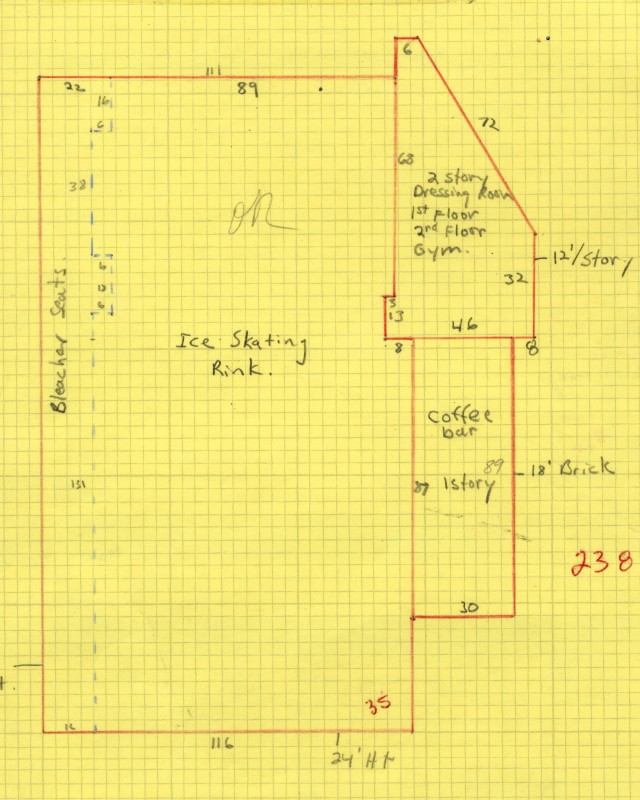 Hygeia Ice plot plan drawing, 1977. Salt Lake County Tax Appraisal Cards, parcel 16-20-229-002.